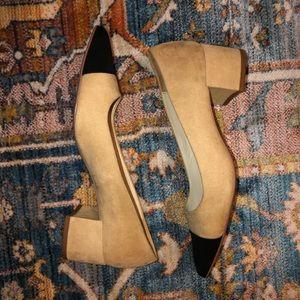 Zara Cap Toe Pumps (Chanel Dupe)